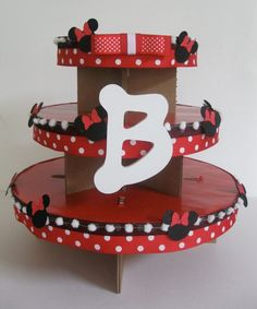 cupcake stand , really cute and simple DIY