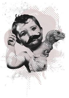 Foto-ilustración | Niñosaurio by Dayoco Estudio, via Behance