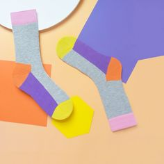 Clare Nicholson for Happy Socks. Love the design of the socks working with the background and the colour palette. Calf Socks, Flat Lay Photography, Colorful Socks, Happy Socks, Designer Socks, Fashion Socks, Photo Craft, Candy Colors, Erotic Art