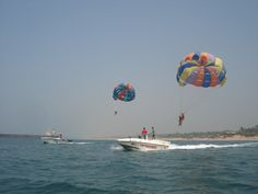 Parasailing is one of the 'must do' attractions in Mandawa beach.One can get bird's eye view through this sport and one can make most of this attraction by capturing photos of blue sea.Mandwa was a lesser known village until the ferry wharf was established in Mandwa connecting Mumbai to the Alibaug beaches.Mandwa now is the gate way to Alibaug beaches and helps Mumbaikars to reach Alibaug in less than an hour.So add another adventure sports to the troves of your adventurous basket and bask…