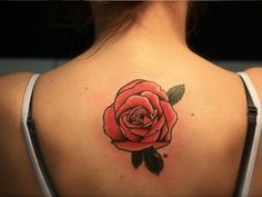 rose tattoo on upper back - Google Search