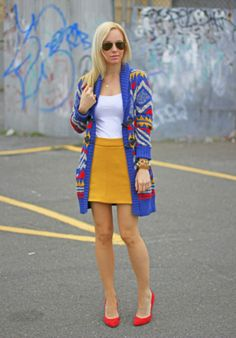 long bright cardigan