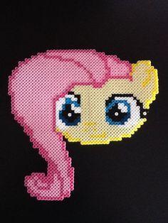 Fluttershy perler beads by GwenniStars