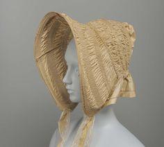 Bonnet | England | 1840 | silk, taffeta | Museum of Fine Arts, Boston | Accession #: 44.205