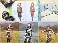 Knitted dress with turtleneck. Fashion designer, sewing and photo by Ewa #iwakki PL: Dzianinowa sukienka z golfem. Projekt / Wykrój / Szycie prawa autorskie Iwakki. Moda Iwakki na jesień-zima 2018. Zamówienia na moje projekty, opracowanie prototypów, szczegóły na stronie www.iwakki.com Zapraszam ;)