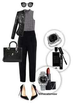 """""""Untitled #149"""" by belleforcible on Polyvore featuring Agonist, H&M, Givenchy, Christian Louboutin, Quay, Christian Dior, NARS Cosmetics, Rolex, Bobbi Brown Cosmetics and Lord & Taylor"""