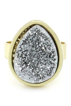 Silver Druzy My Finger Ring from HauteLook on shop.CatalogSpree.com, your personal digital mall.