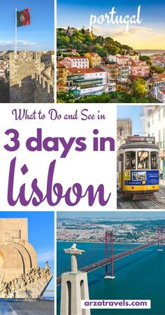 A quick guide to amazing Lisbon, Portugal´s capital. Find out what to do and see in 3 days - the perfect destination in Europe.