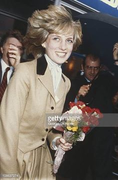 Diana Princess of Wales visiting the studios of Capital Radio London 23rd November 1982