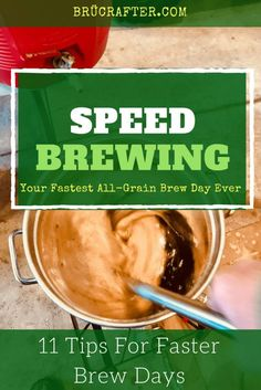 11 (EASY) Tips To Speed Up Your All-Grain Brew Day Speed up your all-grain brew day Beer Brewing Kits, Brewing Recipes, Homebrew Recipes, Beer Recipes, Asian Recipes, Make Beer At Home, How To Make Beer, Brew In A Bag, Brew Your Own Beer