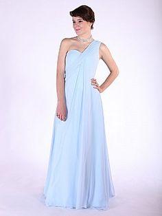 Hadar - Einer Schulter drapierten Chiffon Prinzessin Brautjungfer Kleid - EUR 118,01€