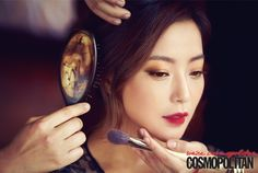 BEAUTY & ASIAN MAKEUP / Asian Beauty / Korean / Ombre Lips / Wine Red on We Heart It