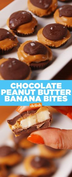 Chocolate Peanut Butter Banana BitesDelish