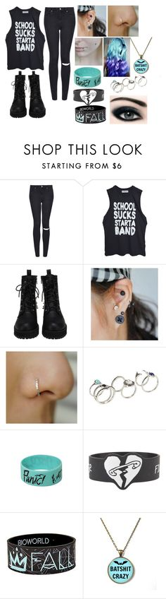 """""""School sucks start a band"""" by hathaway02 ❤ liked on Polyvore featuring Topshop, High Heels Suicide and ALDO"""