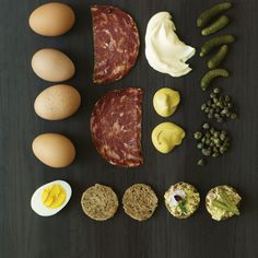 Salami-Egg Canapés | Gustav Klimt and strudel are two icons in chef Kurt Gutenbrunner and food writer Jane Sigal's Neue Cuisine.