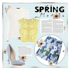 """""""Spring Florals."""" by kerry-chesterman ❤ liked on Polyvore featuring Carven, Roland Mouret, Steve Madden, Erdem and Anja"""