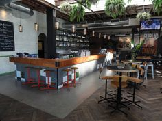 Public Bar recycled timber herringbone floor supplied by Thor's Hammer