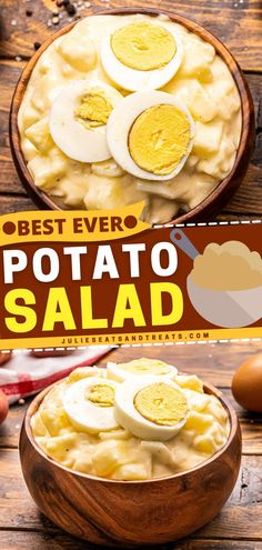 This Potato Salad is the salad for all seasons! Made with a creamy dressing, tender potatoes, and chopped hard boiled eggs, you can prepare it as a summer salad or 4th of July salad! Pair this with your favorite grilled meat! Best Ever Potato Salad, Best Potato Salad Recipe, Best Salad Recipes, Lunch Recipes, Summer Recipes, Hard Boiled, Boiled Eggs, Easy Salads, Summer Salads