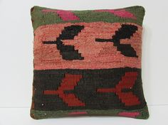 HANDWOVEN vintage pillow cover floor pillow by DECOLICKILIMPILLOWS