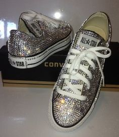 3a53f3bdaaa0 Executees.net - Converse All Stars Covered in COLORED Swarovski Crystals