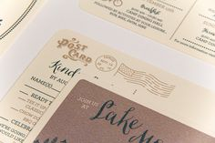 Oh So Beautiful Paper: Dominic + Devin's Summer Camp Wedding Invitations
