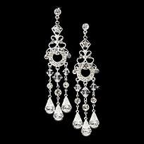 Vintage chandelier earrings with Swarovski crystals !  €50 or about $68