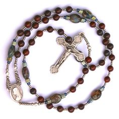 Handmade Lutheran Rosary Prayer Beads by prayerbedes on Etsy