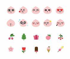 Kawaii Drawings, Cute Drawings, Apeach Kakao, Cartoon Stickers, Kawaii Stickers, Kakao Friends, Line Friends, Pretty Wallpapers, Note Paper