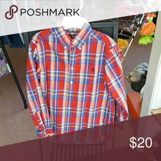 Ralph  Lauren button  down  shirt Button  down  shirt  Red,  Blue, & White  plaid Ralph Lauren Shirts & Tops Button Down Shirts