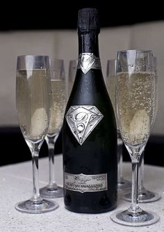 The 'Taste of Diamonds' Champagne is the World's Most Expensive Bubbly #Luxury #Drinks