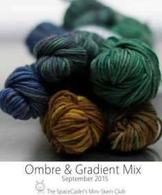 2015.09 Ombre&Gradient Mix Hand Dyed Yarn, Club, Space, Gallery, Mini, Floor Space