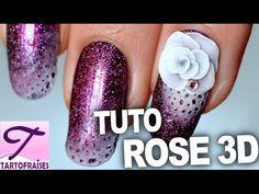 Idée nail art : tuto rose lunaire en résine 3D - YouTube