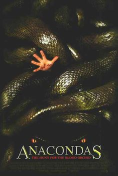 Best Aquatic Horror Movies: Anaconda (1997)/Anacondas: The Hunt for the Blood Orchid (2004)