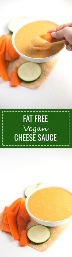 (Vegan and GF) Fat Free Vegan Cheese Sauce - Everybody loves vegan cheeses, so we want to share with you this fat-free vegan cheese sauce, which is inspired in our popular vegan cheese recipe.