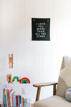 "A vibrant yet minimal idea for a children's bedroom // ""I love you more than all the stars"""