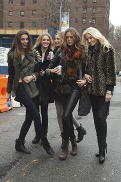 Models Off Duty- i just like this because there are 2 of them drinking pop