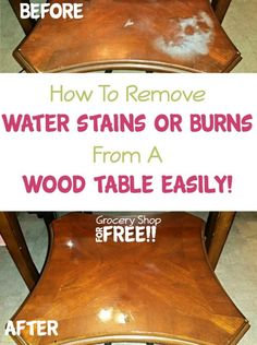 How To Fix A Furniture Finish Stains Pizza Boxes And Water Stains