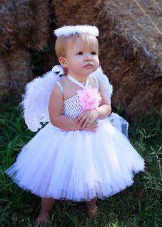 Angel Tutu Dress w/ wings & halo