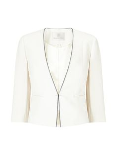 CREPE PIPED JACKETCREPE PIPED JACKET