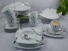 Porzellan Tafelservice Essservice Kombiservice 30tlg Black Light  NEU Plates, Tableware, Ebay, Dinner Sets, Essen, Licence Plates, Dishes, Dinnerware, Griddles