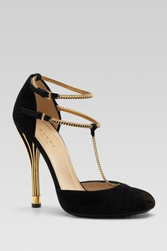 Ophelie High Heel Open Toe T-Strap by Gucci