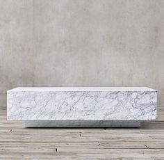 Marble Plinth Coffee Table