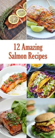 12 Amazing Salmon Recipes - this is a great way to change up dinner with a new meal and still use salmon as a healthy protein!