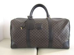a950563d356 Céline Boston Black and Brown Canvas Leather Weekend Travel Bag 71% off  retail. Tradesy