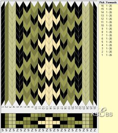 Piece of tissue bunadrelated, with 4 holes. - The Bull-Sveen web site Inkle Weaving Patterns, Loom Weaving, Loom Patterns, Finger Weaving, Hugo Weaving, Types Of Weaving, Inkle Loom, Card Weaving, Willow Weaving