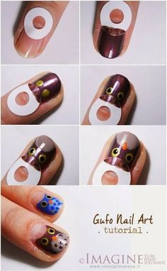 DIY : Owl Nail Art