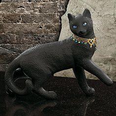 LENOX Figurines: Cats - Midnight Muse Gemmed Cat Figurine