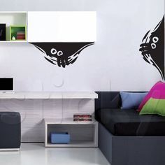 Wall Sticker WATCHING YOU! by Sticky!!! Wall Drawing, Kids Stickers, Wall Sticker, City Life, Places, Home Decor, Decoration Home, Room Decor, Wall Mural