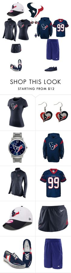 """Houston Texans"" by jenabbyreid on Polyvore featuring NIKE, Game Time, New Era, The Bradford Exchange, New Balance and Puma"