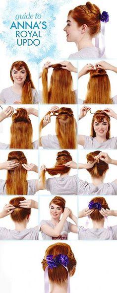 Disney Hairstyles Anna's Hair Howto  Beauty  Pinterest  Anna Hair Princess Braid